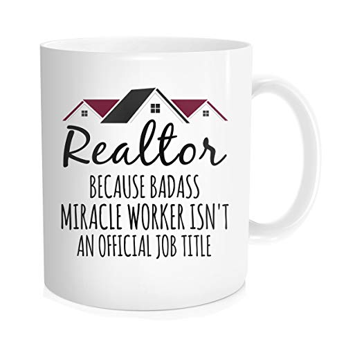 Chilltreads Realtor Coffee Mug, Closers Best Funny Gift for Real Estate Agent Tea Cup, New Motivational and Inspirational for Men Women Office Employee Boss Coworkers Birthday Christmas, 11 OZ White