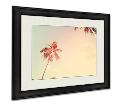 Ashley Framed Prints Tropical Palm Trees Sun Light Holiday, Wall Art Home Decoration, Color, 30x35 (frame size), AG6403930 by Ashley Framed Prints