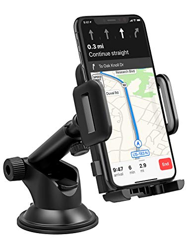 Magnetic Phone Car Mount Holder, Universal Dashboard Car Phone Holder for iPhone 7 Plus 6 6S 8 Plus iPhone X Samsung GalaxyS9 S8 S7 S6 Note 5 6 7 Google Pixel LG and GPS, Black