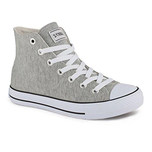 Elara Unisex Sneaker | Damen Herren | High Top | Chunkyrayan hellgrau London