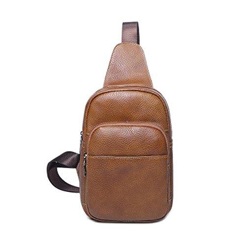 Aoligei Sac en cuir version coréenne sac à bandoulière sacoche oblique loisirs mode vache peau de la poitrine B