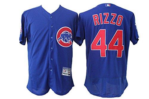Men's Short Sleeved No.44 Chicago Baseball Jersey Blue - Chicago Cubs Baseball Jersey