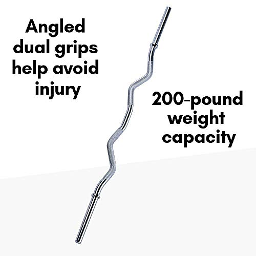Body-Solid Tools Standard Curl Bar RB47 , 47 Inches, Chrome