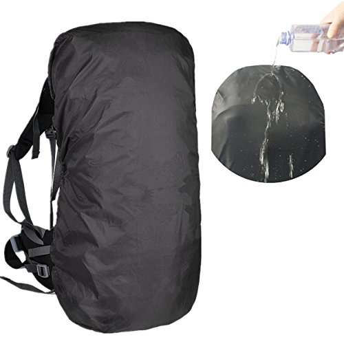 f Backpack Rain Cover Suitable for (55-70L, 70-90L) Backpack (Black, XL (for 55-70L backpack)) ()