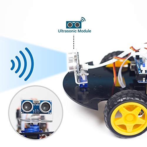 UCTRONICS Bluetooth Robot Car Kit for Arduino with UNO R3, HC-SR04  Ultrasonic Sensor, HC-05 Bluetooth Module, Infrared IR Wireless Remote  Controller,