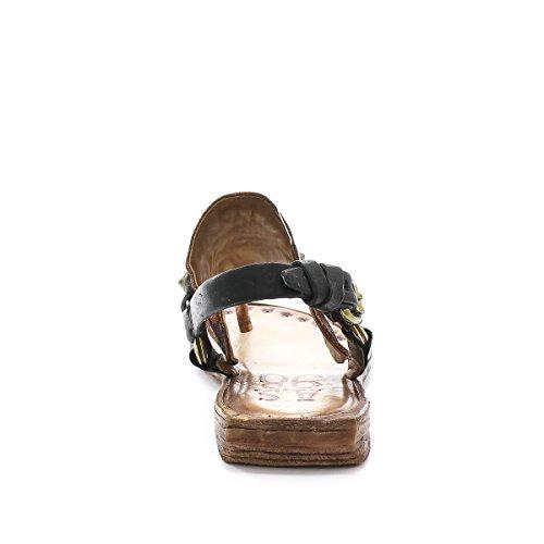 A.S.98 benny - Sandalias para mujer Negro negro Ossido-Nero