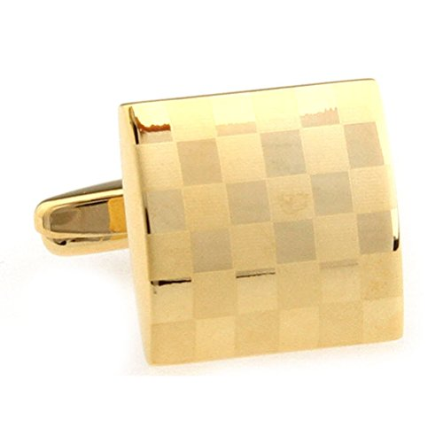 Laser Engraving Cufflinks Platinum Plated Gold Cuff Links