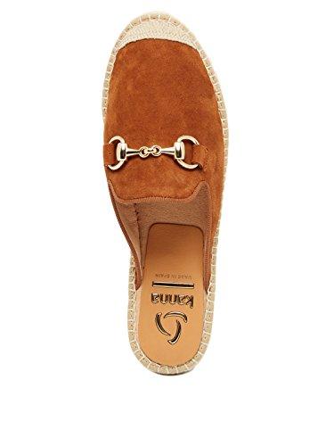 Inuovo - Sandalias de vestir de Cuero para mujer marrón oscuro