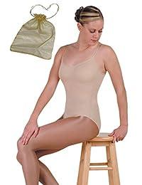 Danshuz Seamless Adult Nude Cami Under-Leotard Bundled with Drawstring Bag
