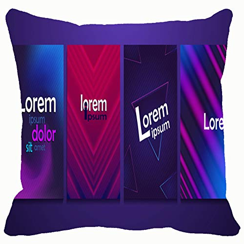 neon Poster Retro Design 80 sci fi Throw Pillows Covers Accent Home Sofa Cushion Cover Pillowcase Gift Decorative 18x18 inches -