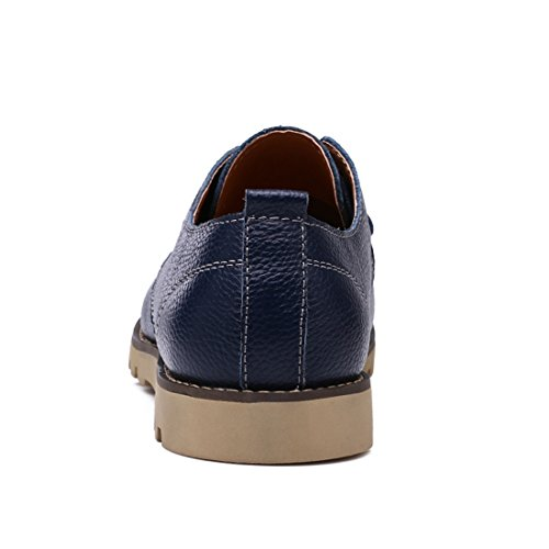 Xiafen Mens Comfort Business Moda Casual Mocassini Massaggio Scarpe Eleganti Blu