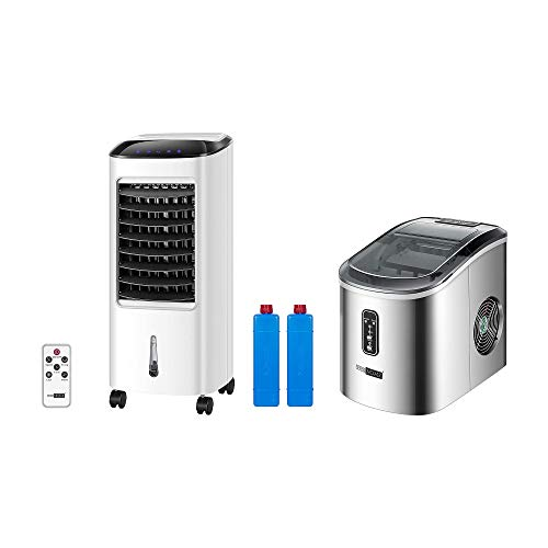 VIVOHOME Evaporative Air Cooler With Fan & Humidifier with Electric Automatic Home Ice Maker