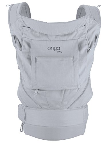 Onya Baby Cruiser Baby and Child Carrier, Infant to Toddler, Multi-Position Ergonomic Soft Structured Eco-Friendly Backpack Baby Carrier - Pearl Grey