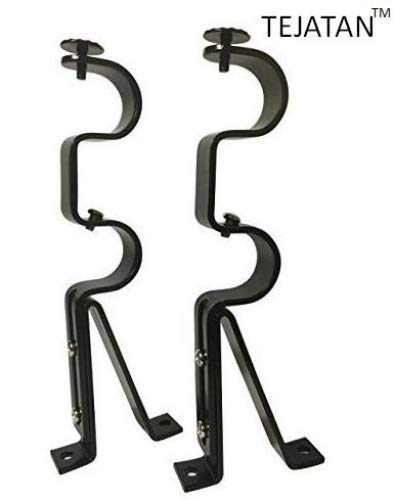 Superieur Double Curtain Rod Brackets   Black (set Of 2) (Also Known As