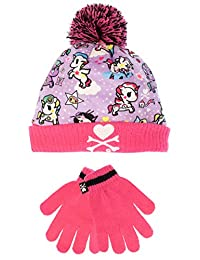 Tokidoki Girls Unicorn Hat and Gloves Set One Size