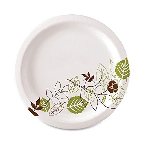 Dixie UX7WSPK, Pathways Table Ware Plates, Heavy Weight, 6-7/8 in, 125/PK, Pathways/White