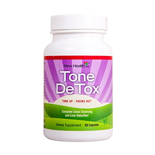 Detox and Colon Cleanse For Weight Loss, By New Health, Reduce Bloating, Gas, Constipation, 60 Capsules