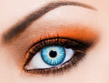 heißer verkauf billig elegantes und robustes Paket feine handwerkskunst Eye-Effect-Farbige Kontaktlinsen blau Sky als Jahreslinsen ohne Stärke!  Karneval/Halloween Kontaktlinsen+Linsenbehälter