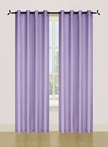 84' Sheer Curtain Panel (Bed Bath Outlet Set Of 2 Spectrum Hotel Quality Semi Sheer Grommet Window Panel Curtains 54