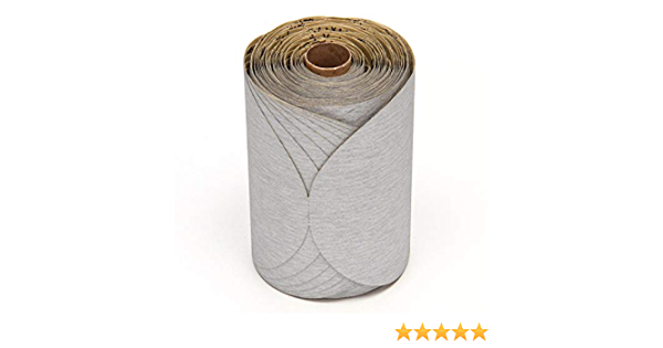 180 Grit 3M Stikit Paper Disc Roll 426U Roll of 175 Silicon Carbide Gray 6 Diameter