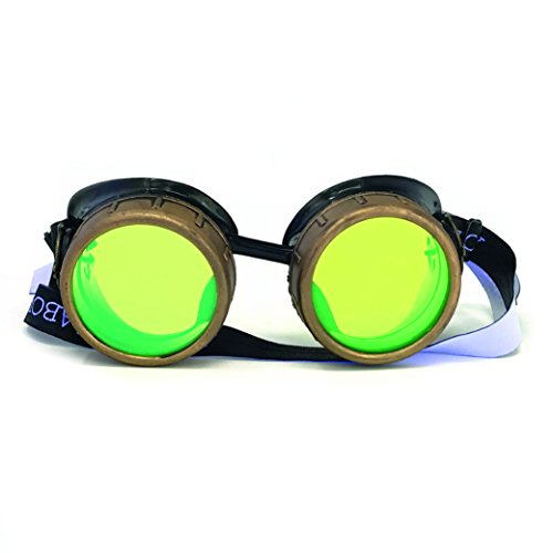 UMBRELLALABORATORY Steampunk Victorian Style Goggles with Compass