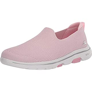 Skechers Women's GO Walk 5-124147 Sneaker, Light Pink, 7 Medium US