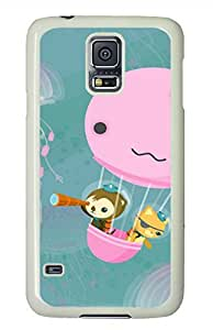 meilz aiaiCute Monkey And Jellyfish White Hard Case Cover Skin For Samsung Galaxy S5 I9600meilz aiai