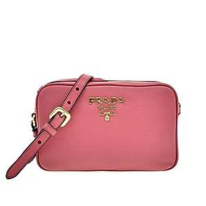 Prada Vitello Phenix Leather Peonia Pink Shoulder Camera Bag 1BH103