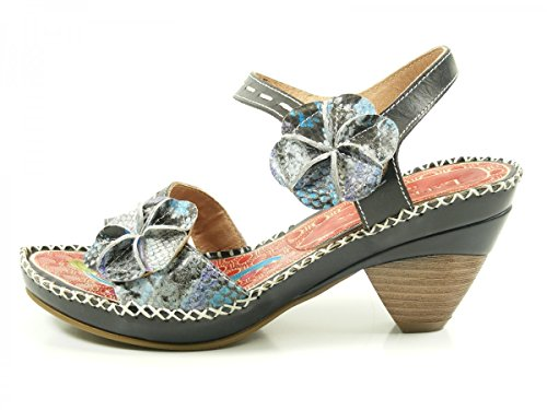 Laura Vita CX083-15 Beignet 15 Sandalias fashion de cuero mujer Schwarz