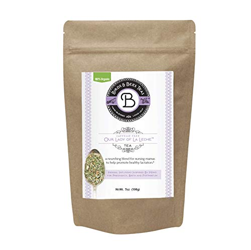 Organic Lactation Tea for Breastfeeding - Our Lady of La Leche by Birds & Bees Teas - Breastfeeding Supplement & Lactation Supplement to Boost Supply of Mother