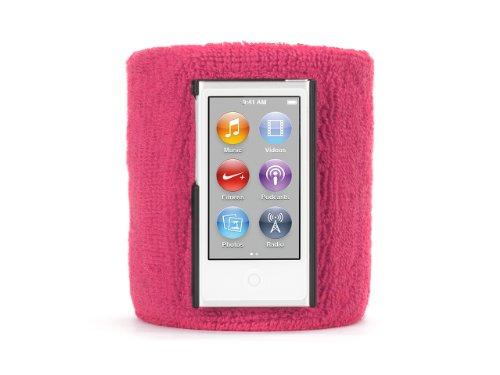 Griffin Ipod Armband - Griffin Pink SportCuff Wristband case for iPod nano (7th gen.) - Absorbent wristband for iPod nano (7th gen.)