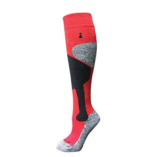 (Incrediwear Ski Sock Red Pair Cold Weather Regulating Circulation Large)