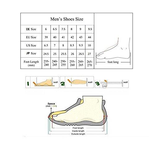 Mocasines Deylaying de Invierno Zapatos 3 Ante Planos de Bajos Goma de Piel con de Suela Hombres Negro Mocasines Zapatos ZpwqrZ