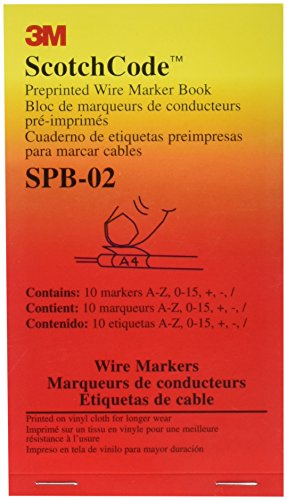 3M(TM) ScotchCode(TM) Pre-Printed Wire Marker Book SPB-02