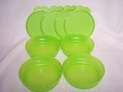 Amazon.com: 4 Tupperware Microondas inferior plana cuencos ...