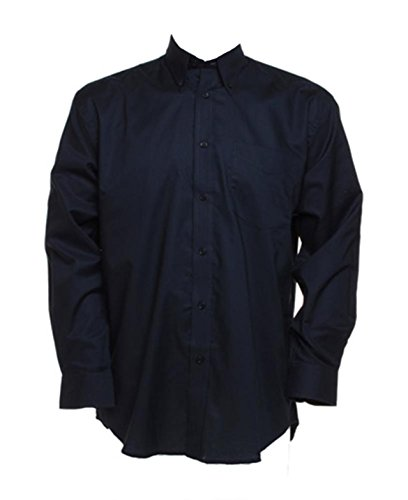Neu Kustom Kit Herren Verstellbare Manschetten Arbeitsplatz Oxford Langärmeliges Hemd - Französische Marine, 16.5