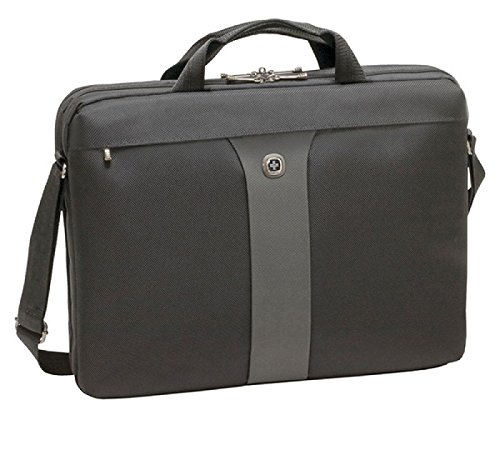 "Wenger 600654 LEGACY 17"" MacBook Pro Slimcase , Airport friendly with iPad/Tablet / eReader Pocket in Black / Grey {12 Litres}"