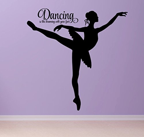 Dancing Ballerina Wall Decal, Large 36