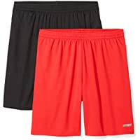 Amazon Essentials Men's 2-Pack Loose-Fit Performance Mesh Shorts