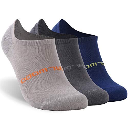 Low Cut Running Socks,ZEALWOOD Unisex Cushion Socks,Hidden Comfort Athletic No Show Running Socks,3 pairs-mix 2-no show-bamboo by ZEALWOOD