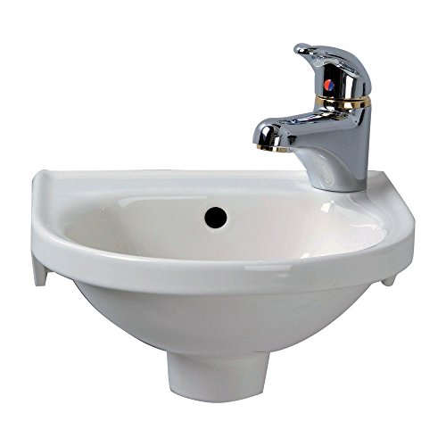 Barclay 4-521BQ Rosanna Wall Hung Bathroom Sink in Bisque
