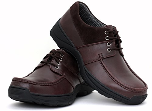 NUEVO Zapatos Para Hombre Informales Cordones Escuela Oficina Trabajo Boda Talla UK Café