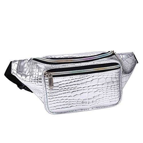 Holographic Fanny Pack Metallic 80s Waist Pack for