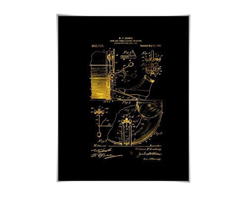 (Drum Cymbal Gold Foil Patent Illustration. 36 Colours. Music Poster. Drummer Musician )