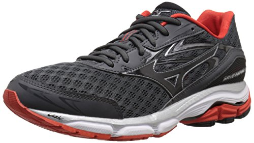 Mizuno Men's Wave Inspire 12 Running Shoe, Dark Shadow/Black