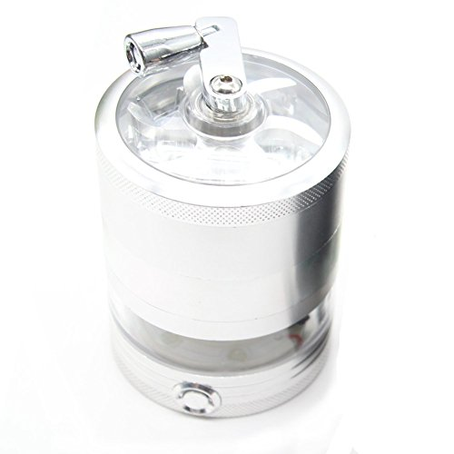 Tobacco Grinder Aluminum Herb Spice Crusher Muller Mill Hand Black - 3