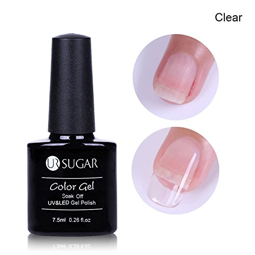 CoulorButtons 7.5ml UR SUGAR Quick Building Painless Quick Nail Builder Gel Nail Tips Extension UV LED Soak Off Gel Polish Pink Clear Nude Foudation Reionforce Lacquer - Poly Hard Enamel