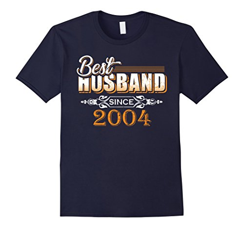Mens Best Husband Since 2004 - Anniversary Gift 14 Years Wedding Large Navy