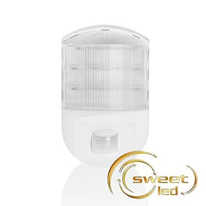 Sweet-LED, luz LED nocturna con sensor de movimiento PIR, con enchufe,