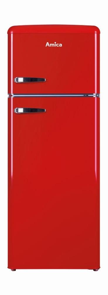 ST, 40 dB, 2,5 kg//24h, A++, Rojo Frigor/ífico Amica KGC15630R nevera y congelador Independiente Rojo A++
